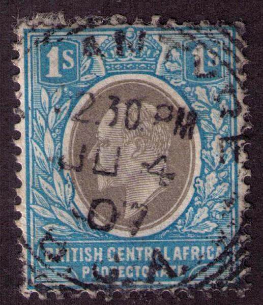 British Central Africa #  64  Used VF Cat $ 15