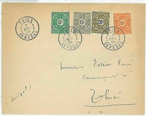 14800 - SENEGAL  AOF - Postal History -   COVER  postmarked THIES  1934