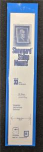 Stamp Mounts Supplies Showgard #33 New 22 strips 33mm by 215mm Black background