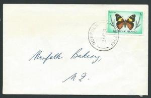 NORFOLK IS 1978 1c Butterfly local rate cover..............................42665