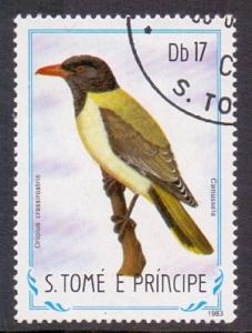 St. Thomas and Prince  1983  used  741  birds  17d.     #