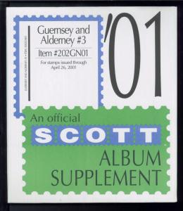 2001 Scott #3 Guernsey & Alderney Stamp Album Supplement Item #202GN01
