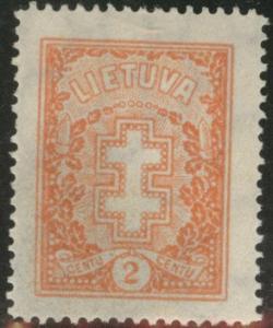 LITHUANIA LIETUVA Scott 233 1931 wmk 109 MH* CV$16.50