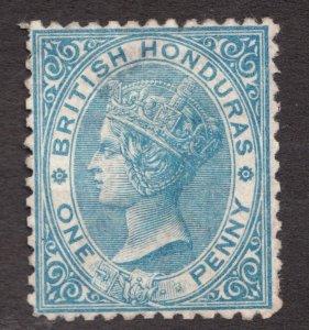 Sc4  - Sg5 - British Honduras - One Penny - 1872 - MNG -  superfleas - cv$100
