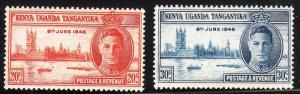 Kenya, Uganda and Tanganyika 90-91 - MNH