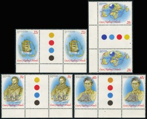 Cocos Islands Scott 61-64 Mint never hinged.