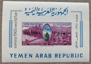 Yemen 1966 SANA'A overprint NY Fair MS, MNH. Scott 220, CV $10.00,  Mi B...