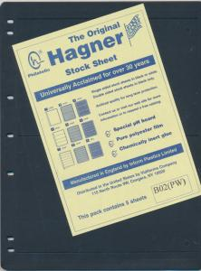 25 HAGNER 2 POCKET BLACK STOCK SHEETS 5 PACKAGES OF 5 SINGLE SIDED