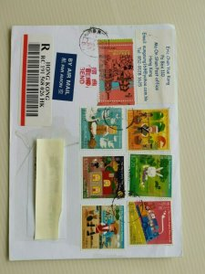 SINGAPORE INCOMING MAIL FROM HONG KONG REGISTERED MAIL