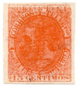 (I.B) Spain Postal : King Alfonso 15c (multiple print)