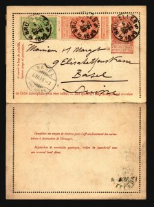 Belgium 1899 Uprated Letter Card to Switzerland - Z16809