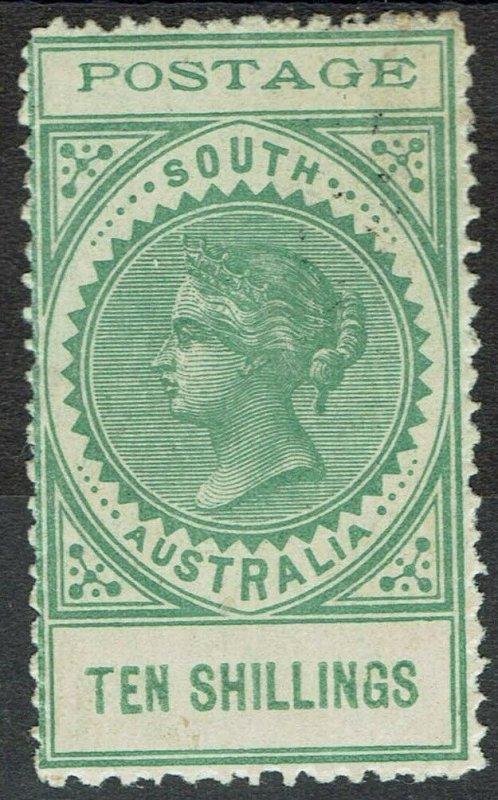 SOUTH AUSTRALIA 1902 QV THIN POSTAGE 10/-