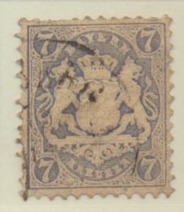 Bavaria (German State) Stamp Scott #26, Used, Thin - Free U.S. Shipping, Free...