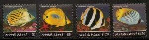 NORFOLK ISLAND SG591/4 1995 BUTTERFLYFISH MNH
