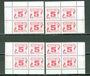 CANADA 1977 DUES #J32 PERF 12.5x12  PVA GUM..PLATE CORNERS SET MNH...$3.00