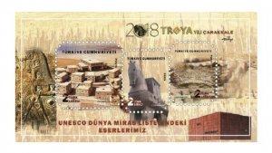 TURKEY 2018 (BLOCK) - UNESCO WORLD HERITAGE LIST, TROYA, TROJAN HORSE, CANAKKALE