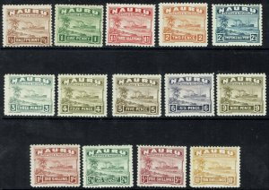 NAURU 1924 SHIP SET SHINY SMOOTH PAPER