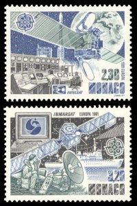 Monaco 1991 Scott #1760-1761 Mint Never Hinged