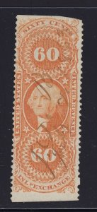 R64b F-VF used revenue neat cancel with nice color cv $ 85 ! see pic !