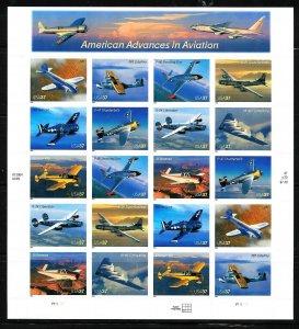 PCBstamps   US #3916/3925 Sheet $7.40(20x37c)Advances Aviation, MNH, (5)