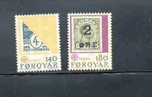 Faroe Islands Sc 43-4 1979 Europa stamp set mint NH