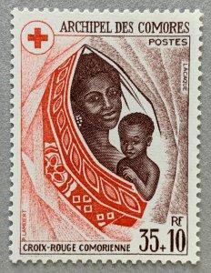 Comoro Islands 1974 Mother and child, MNH. Red Cross. Scott B3, CV $2.75