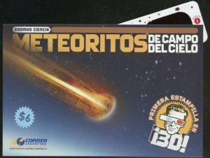 ARGENTINA METEORITES  3-D SOUVENIR SHEET WITH GLASSES   SCOTT#2445  MINT NH
