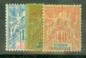 B: St Marie de Madagascar 1-13 mint CV $370; scan shows only a few