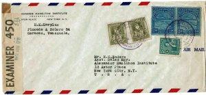 Venezuela 1941 Caracas cancel on airmail cover to the U.S., franked Scott C31