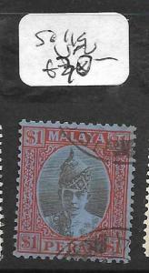 MALAYA PERAK  (P0311B) $1.00   SG 119  VFU