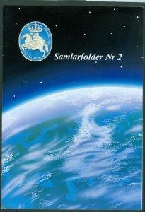 Sweden. Folder 2002. Europa 91-Space. 3 Souv.Sheet. Test-Black-Complete Stamp.