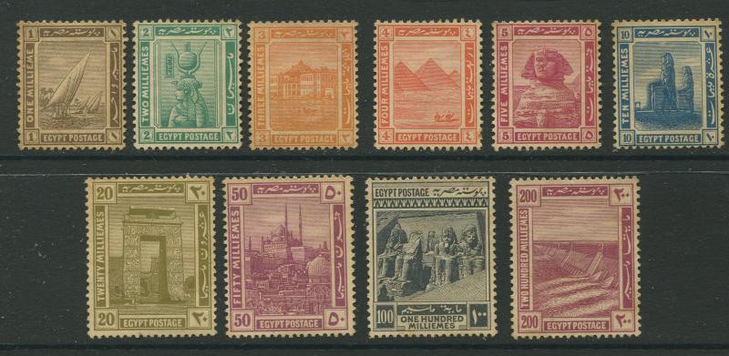 Egypt - Scott 50-59 - Definitive Issue -1914 - MVLH - Set of 10 Stamps Stamps