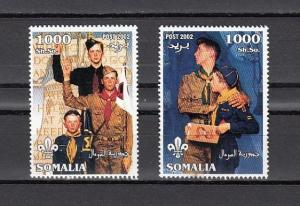 Somalia, 2002 issue. Norman Rockwell`s Scout Illustrations.