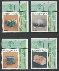 Kazakhstan 1997 Minerals and Rocks 4 MNH stamps