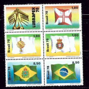 Brazil 1581a MNH 1978 Block of 6