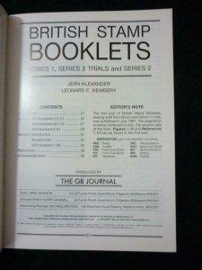BRITISH STAMP BOOKLETS SERIES 1 SERIES 2 TRIALS & SERIES 2 by ALEXANDER &NEWBERY