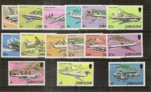 Gibraltar 1982 Aeroplanes Set MNH