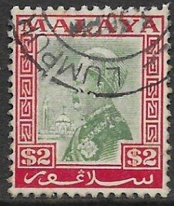 Malaysia - Selangor 58  1936  $ 2  fine used