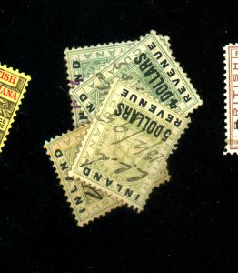 British Guiana #124,126,127,128 Used with Revenue Cancels