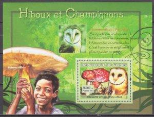 2007 Guinea 4742/B1196 Mushrooms and Owls 7,00 €