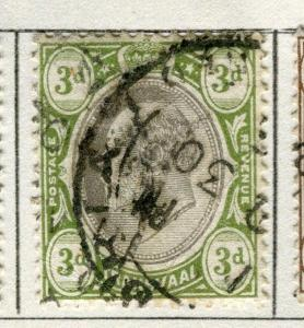 TRANSVAAL; 1902-03 early Ed VII issue fine used 3d. value
