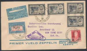 SIEGER #63D LZ127 ARGENTINA FLIGHT COVER MAY 1930 HV7422