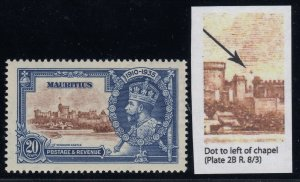 Mauritius, SG 247g, MLH Dot to Left of Chapel variety