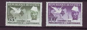 J11355 JL stamps 1959 guinea hv,s of set mnh #173-4 dove, map