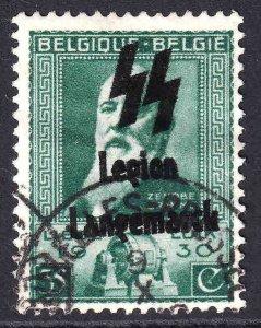 BELGIUM LEGION LANGEMARCK OVERPRINT CDS F/VF SOUND #4