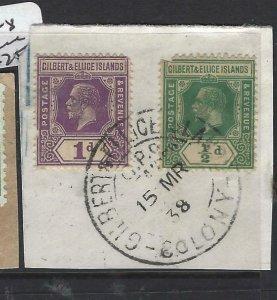 GILBERT & ELLICE IS (P0307B)  KGV SG 27,28 PIECE  CSANCEL  VFU