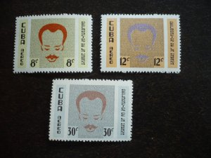 Stamps- Cuba- Scott# C219-C221 -Mint Hinged Set of 3 Stamps