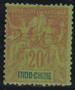 Indo-China # 12, Navigation & Commerce, Hinged, 1/3 Cat.
