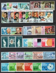 British Antarctic Territory 1969-1997 Collection With Better Sets MNH