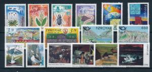 Faroe Islands 1991 Complete Year Set MNH